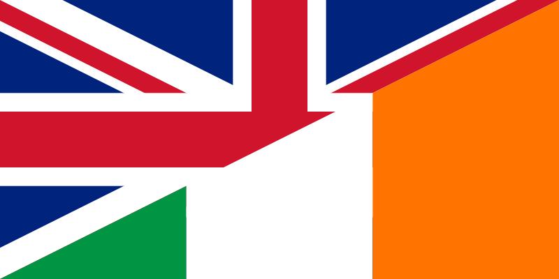 English-Irish Flag