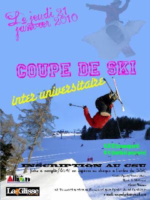 Affiche coupe de ski 2010
