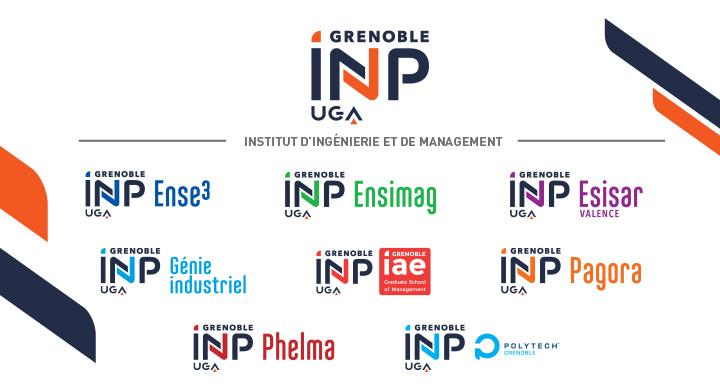 Nouvelle identité visuelle de Grenoble INP - UGA
